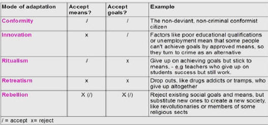 ways to deal with deviance How the social structure creates fresh deviant poten- tial, but they do not help us  explain how that potential is later shaped into durable, persisting social patterns.