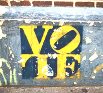 A VOTE GRAFFITI ON THE STREET – BY YI CHEN
