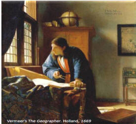 Vermeer's The Geographer. Holland, 1669
